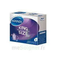 Manix King Size Préservatif Avec Réservoir Lubrifié Confort B/3 à LE-TOUVET