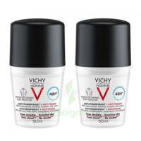 Vichy Homme Déodorant Anti-transpirant Anti Trace 48h 2*billes/50ml à LE-TOUVET