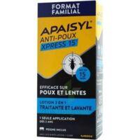 Apaisyl Anti-poux Xpress 15' Lotion Antipoux Et Lente 200ml+peigne à LE-TOUVET